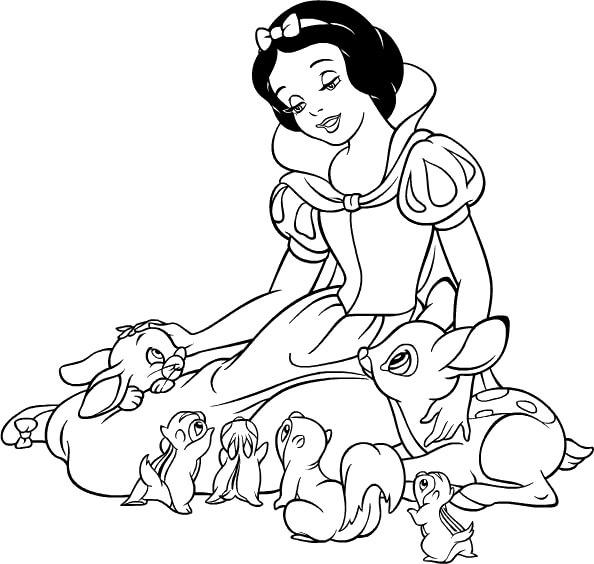 Blancanieves y los siete enanitos de Disney para Pintar