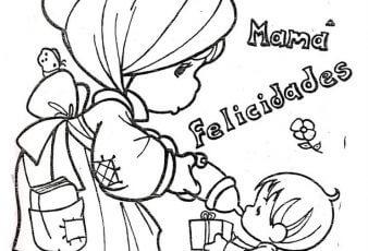 Dibujos del dia de la Madre Para Colorear