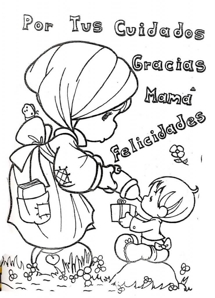 Dibujos Del Dia De La Madre Para Colorear Dibujos Para Pintar Y