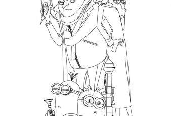 Dibujos de Personajes de mi Villano Favorito 2 para pintar