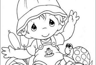 Dibujos de niños para pintar y colorear
