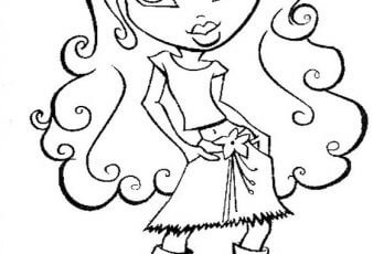 Dibujo de chica bratz para colorear