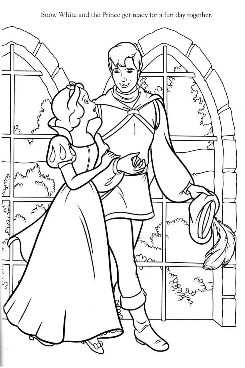 Dibujos de blancanieves y el principe para imprimir