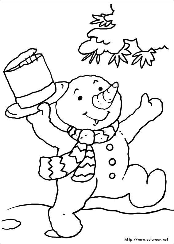 Dibujos de navidad para pintar y colorear gratis dibujos - Dibujos para pintar navidad ...
