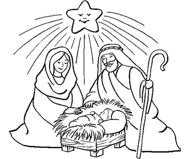 Imágenes de Nacimiento de Niño Jesus para Pintar     Dibujos para