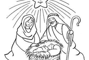 Imágenes de Nacimiento de Niño Jesus para Pintar