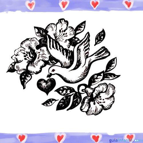 Dibujos de Paloma de Paz para colorear