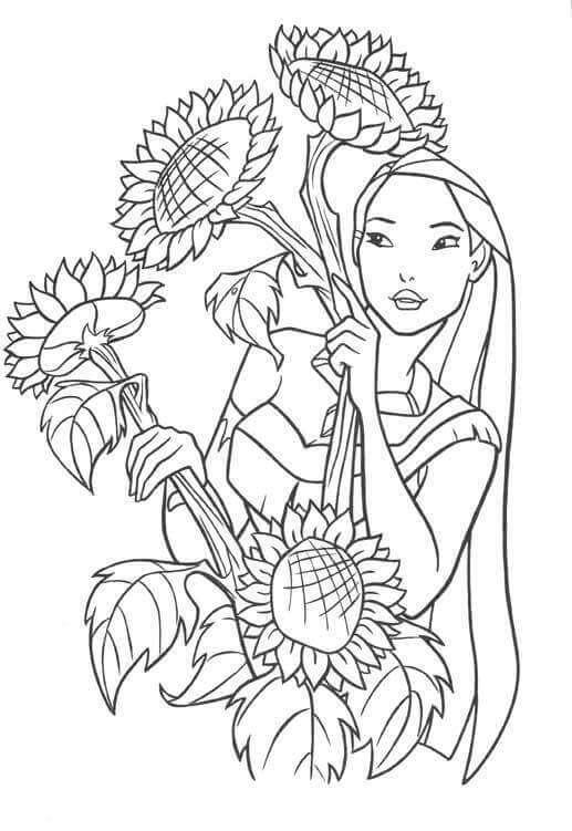 Dibujos para Pintar Pocahontas