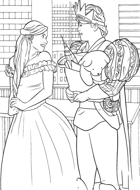 Dibujos para colorear de princesasy principe