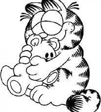Garfield enamorado para colorear