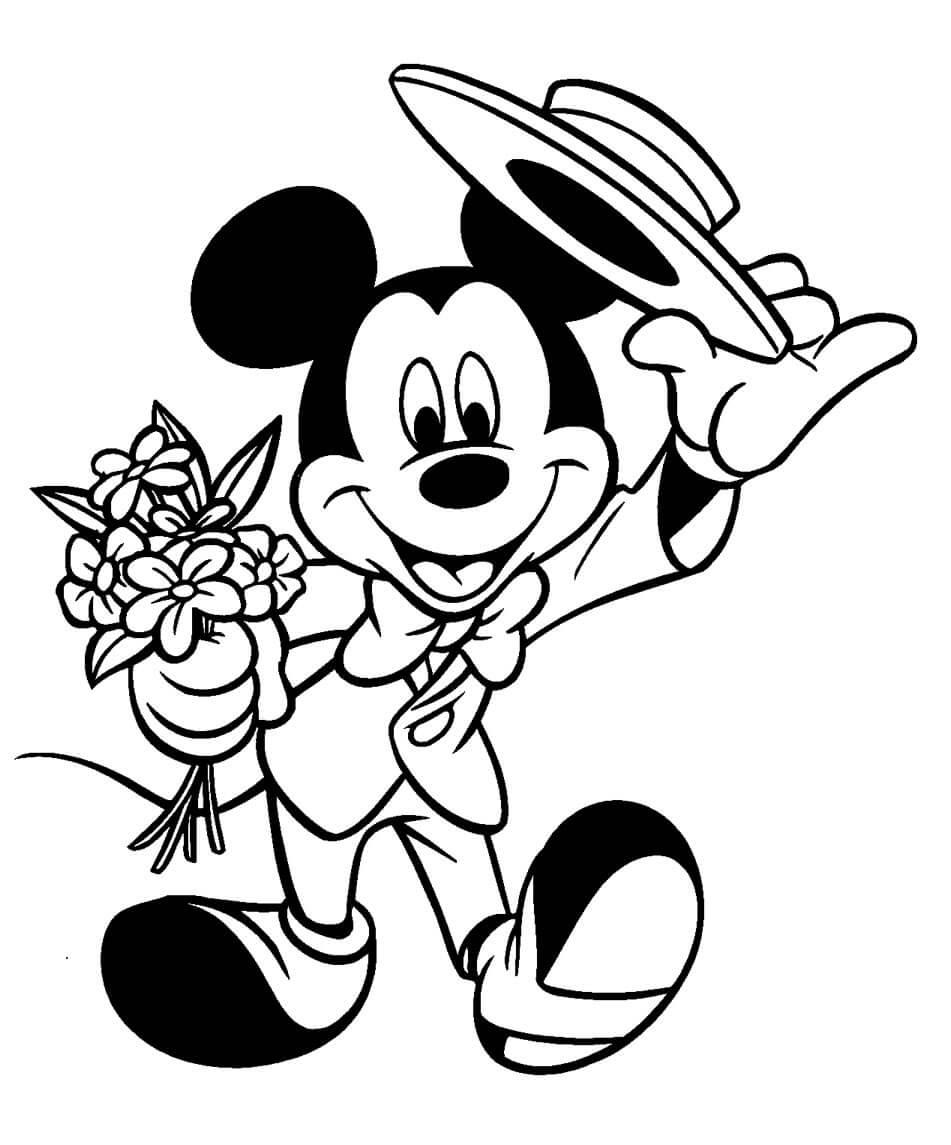 Imagenes de Mickey Mouse para pintar