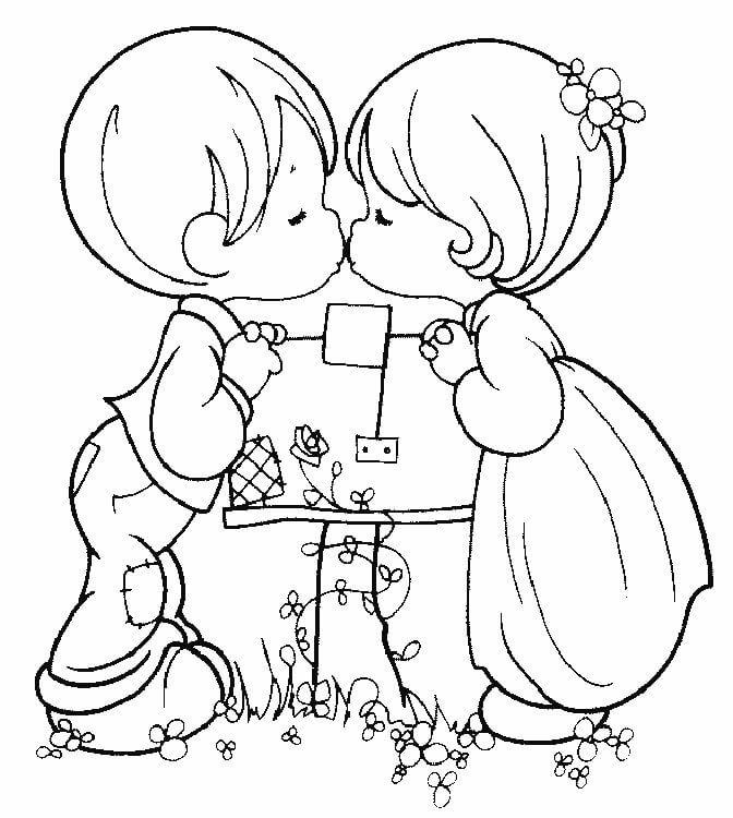dibujo de amor de dos para colorear