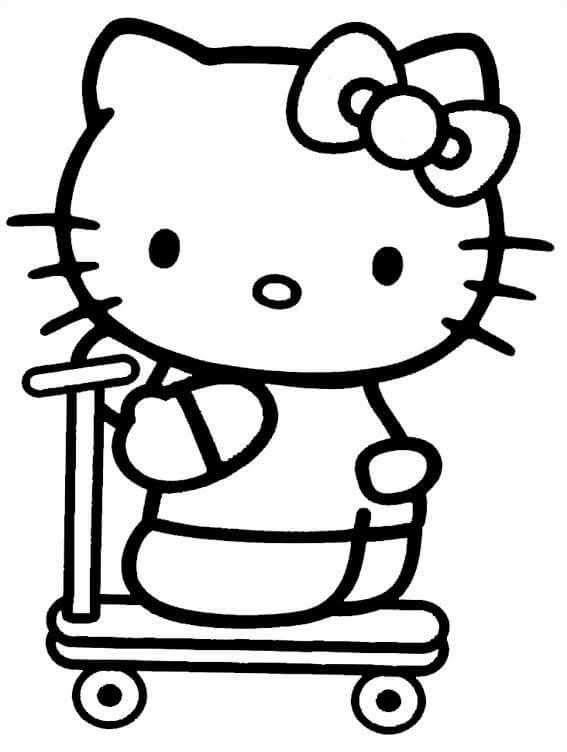 dibujo de hello Kitty
