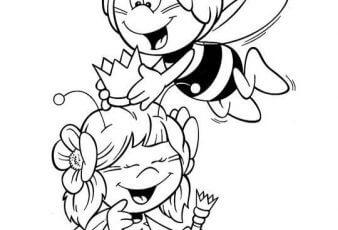 dibujo de la abeja maya enamorada