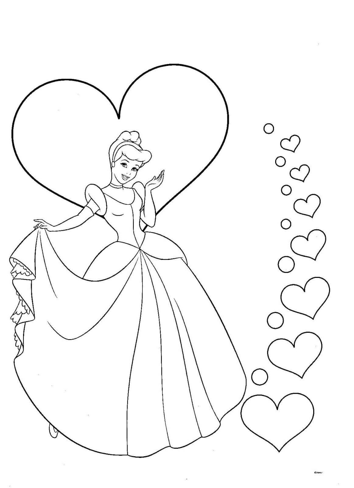 Dibujos de princesas - Dibujos para pintar y colorear gratis