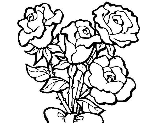 Dibujos de flores para pintar y colorear gratis for Plantas ornamentales para colorear