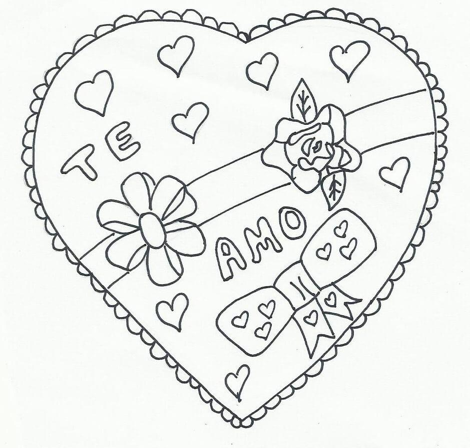 dibujos de corazones para pintar