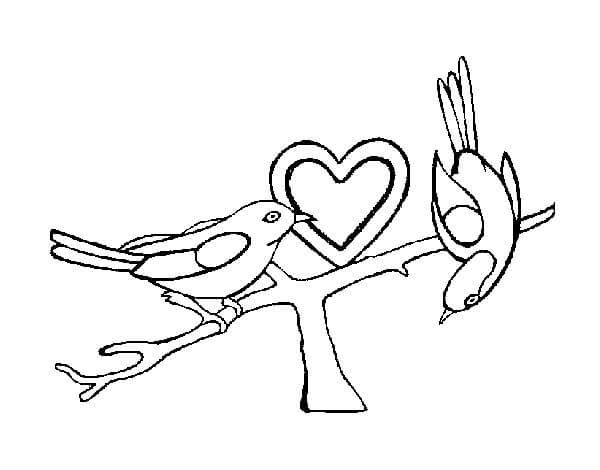 dibujos de pajaritos enamorados