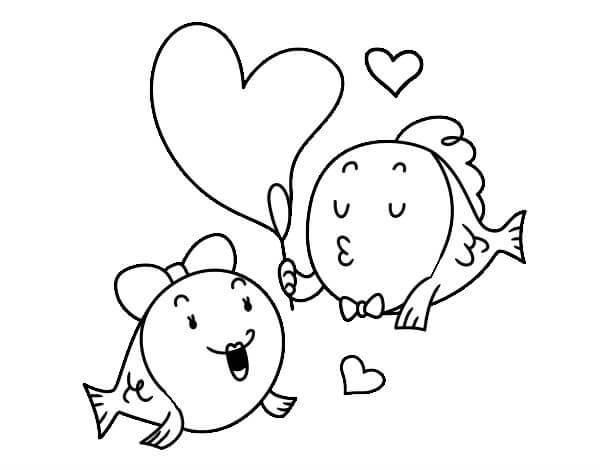 Dibujos De Peces Enamorados Dibujos Para Pintar Y Imprimir 2019