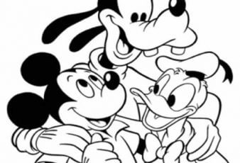 dibujos de los amigos raton mickey