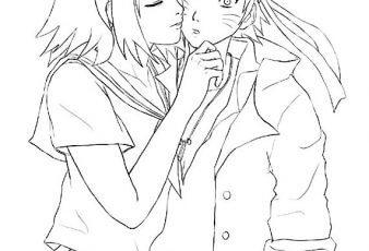 dibujos para colorear Naruto Enamorado