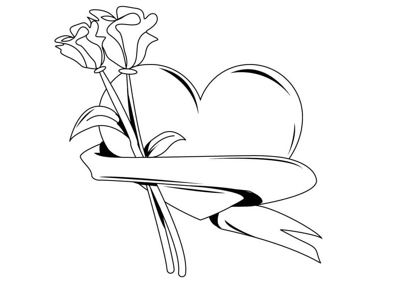 dibujos para colorear de rosas - Imágenes para Pintar