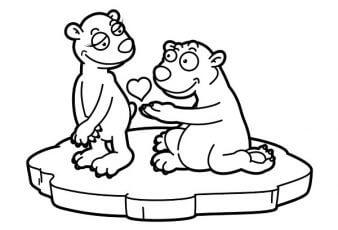 dibujos para pintar osos enamorados