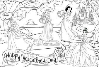 Dibujo princesas disney para Colorear