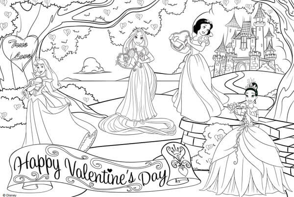 Dibujo princesas disney para Colorear - Imágenes para Pintar