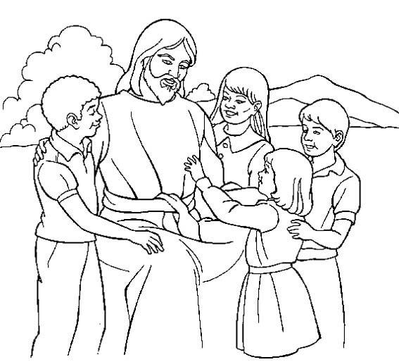 Dibujos de Jesus para Pintar y Colorear Gratis