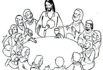 Dibujos de jesus de la ultima cena para pintar