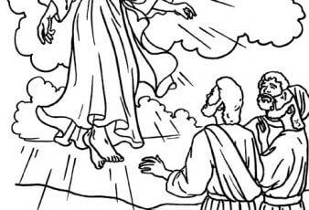 Dibujos de la ascencion de jesus para colorear