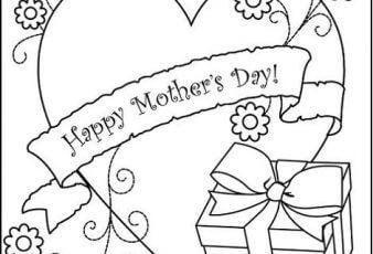 Dibujos de postales del dia de la madre para pintar