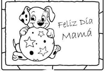 Dibujos del dia de la madre con animales para impirimir
