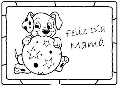 Dibujos del dia de la madre con animales para imprimir