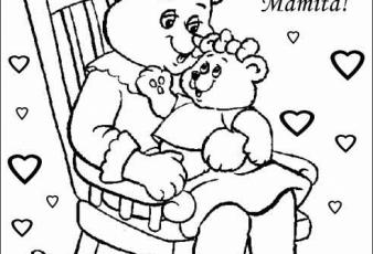 Dibujos del dia de la madre con frase para imprimir