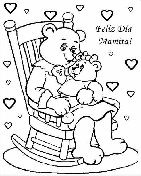 Dibujos del dia de la madre con frases para imprimir
