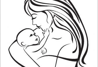 Dibujos del dia de la madre para colorear e imprimir