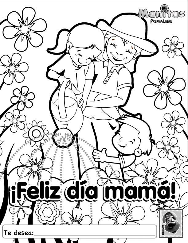 Dibujos Del Dia De La Madre Para Felicitar Dibujos Para Pintar Y