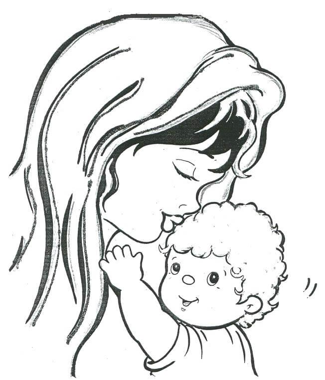 Dibujos Del Dia De La Madre Para Pintar Y Colorear Dibujos Para