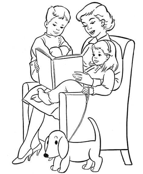 Dibujos del dia de la madre para pintar