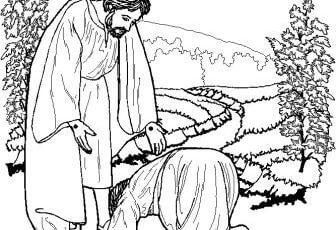 Imagenes de jesus para pintar y colorear