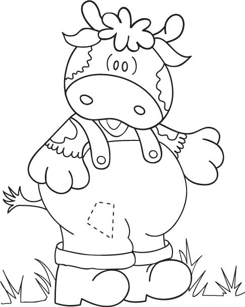 dibujos para colorear de vaquita Granjera