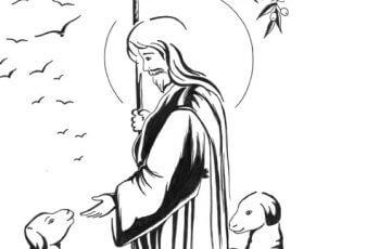 Dibujos cristianos de jesus el buen pastor para pintar