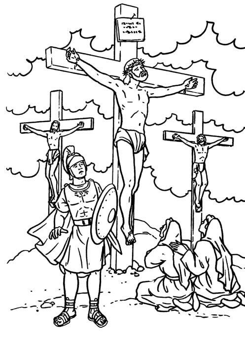Dibujos de jesus crucificado para pintar