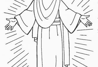 Dibujos de jesus para colorear y pintar