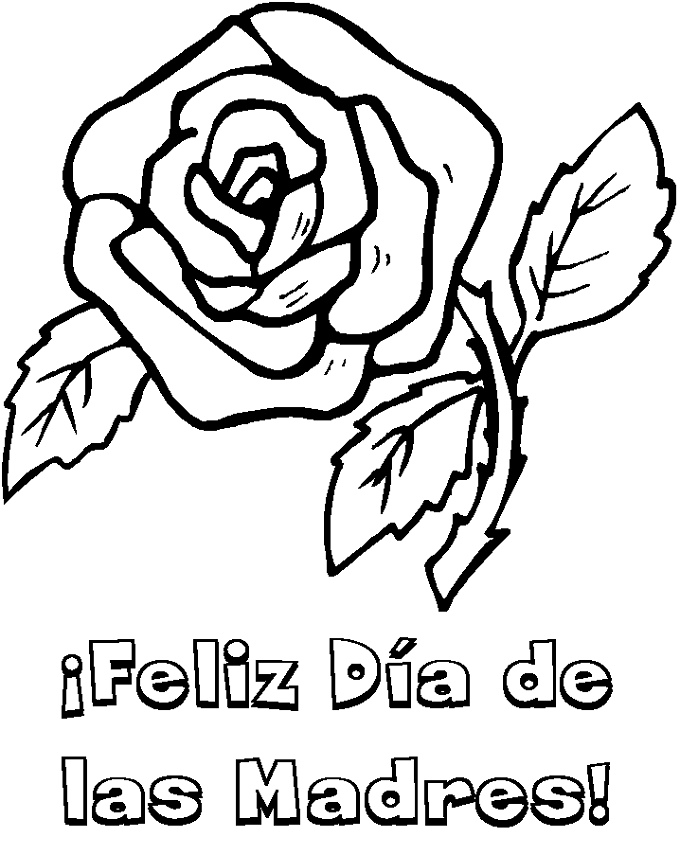 Dibujo para pintar dia de la Madre
