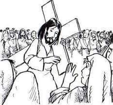 Dibujos para Colorear de la pasion de Cristo