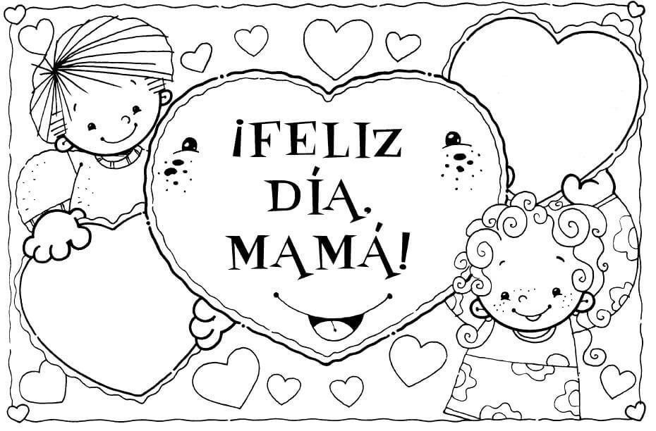 Dibujos para colorear de dia de la Madre