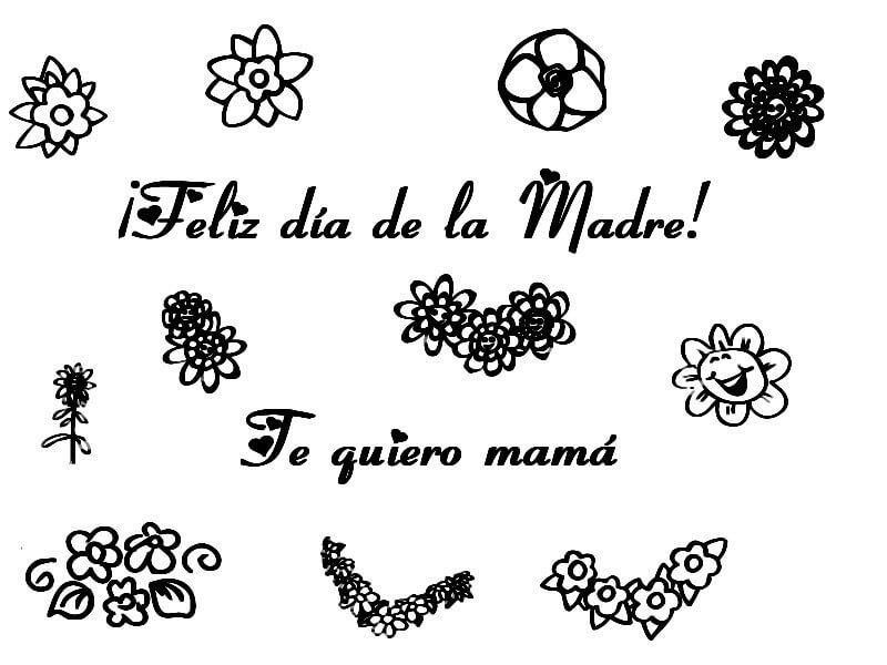 Dibujos para colorear del dia de la Madre
